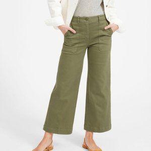 Everlane   Wide Leg Crop Pants Olive Green 6